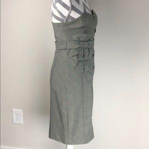 Anthropologie Strapless Plaid Dress